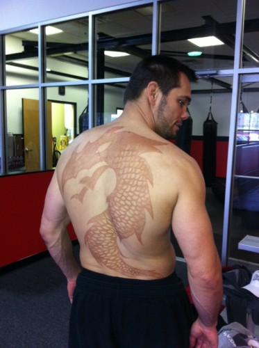 ufc fighters tattoos. UFC Fighter Rich Franklin